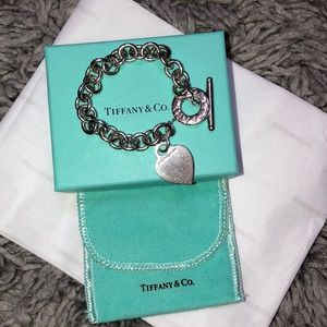Authentic Tiffany & Co. Toggle Heart Bracelet